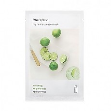 [Innisfree] My Real Squeeze Mask 1ea #Lime
