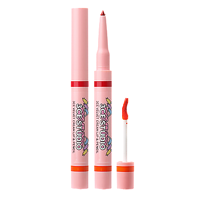 [3CE] STUDIO VELVET CREAM LIP & PENCIL #KISSES