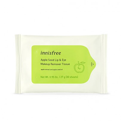 [Innisfree] Apple Seed Lip & Eye Remover Tissue (30枚入り)