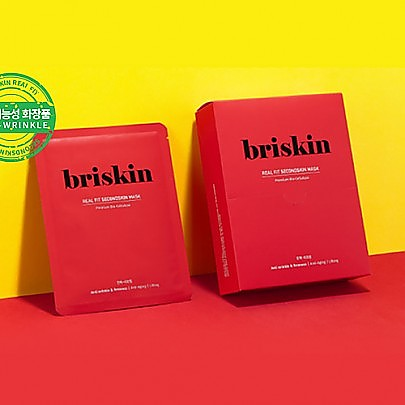 [BRISKIN] REAL FIT SECONDSKIN MASK 10EA #Elasticity_Lifting