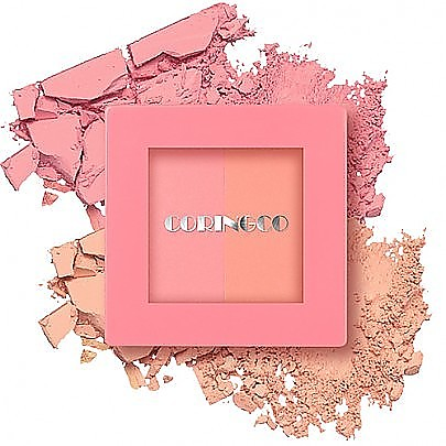 [CORINGCO] Pink Square dual cheek #no.01