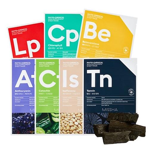 [Missha] PHYTO-CHEMICAL Skin Supplement Sheet Mask #Anthocyanin 1ea