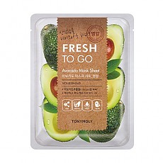 [Tonymoly] Fresh To Go Aloe Mask Sheet #Avocado