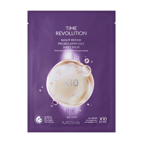 [Missha] Time Revolution Night Repair Probio Ampoule Sheet Mask1EA