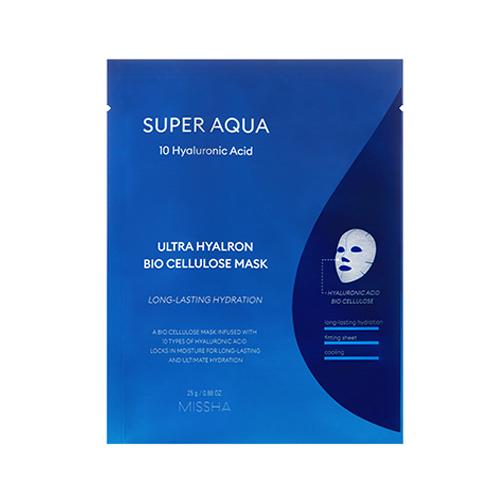 [Missha] Super Aqua Ultra Hyalron Bio Cellulose Mask1EA